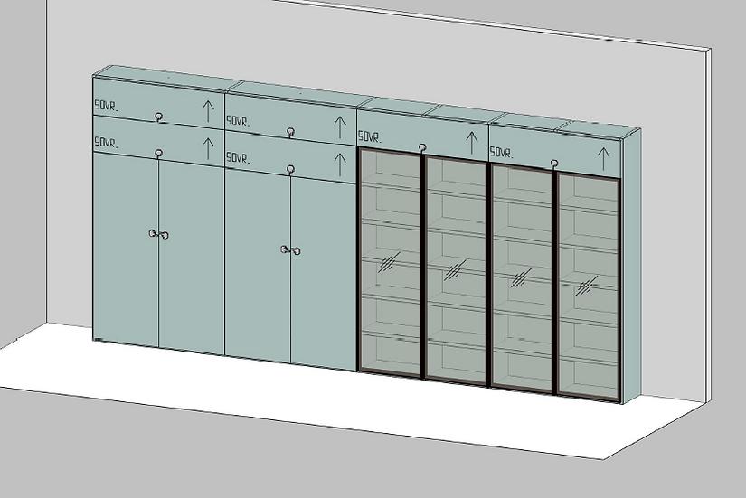 Bibliothèque complète en laque mate - NOVAMOBILI