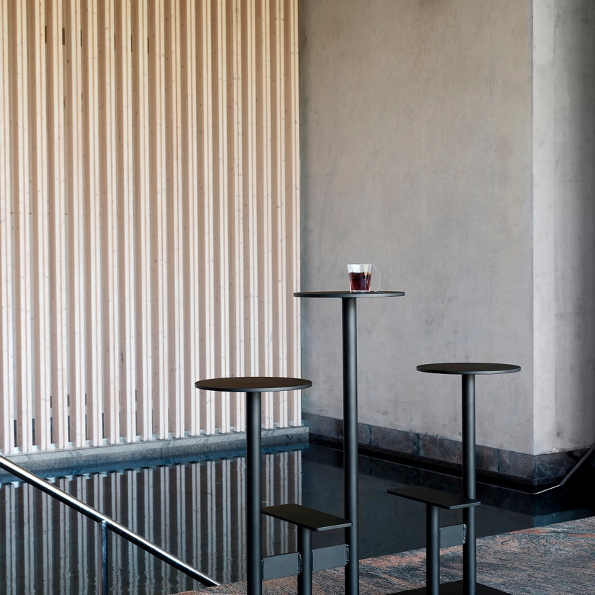 Bla Station tables design mange-debout extérieur outdoor COMBO
