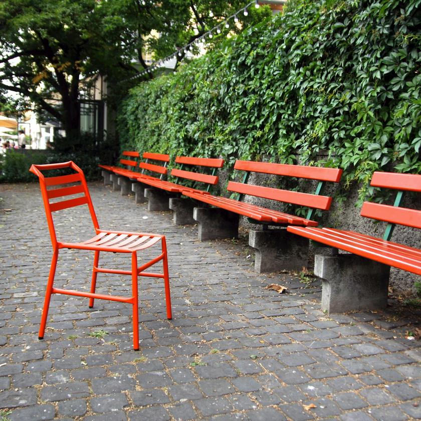 chaise design straw bla station outdoor extérieur rouge