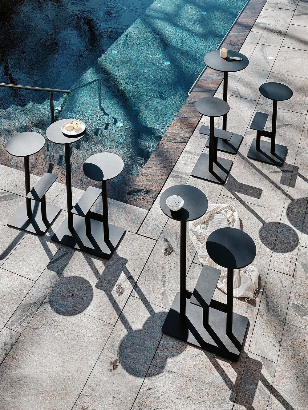 Bla Station tables design mange-debout exterieur outdoorCOMBO