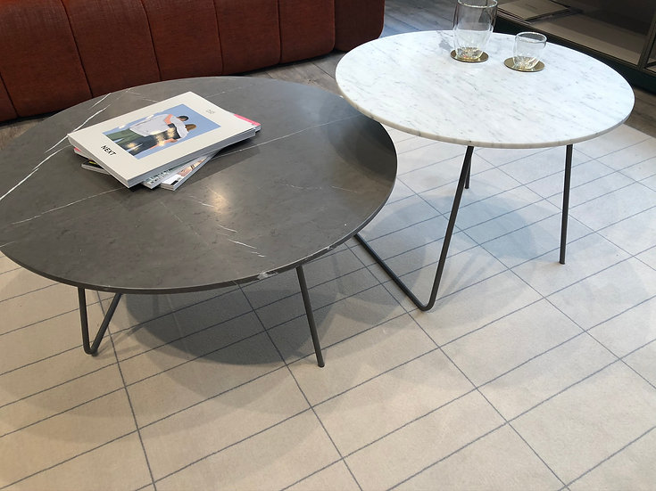 Ensemble tables basses ORBIS plateau en marbre - NOVAMOBILI
