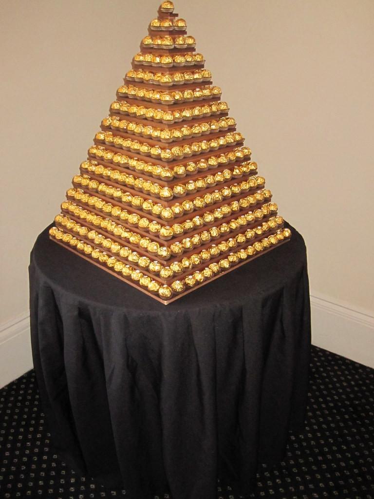 chocolate ferrero rocher pyramid