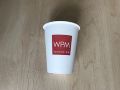 paper cup with logo on it branded 1 colo