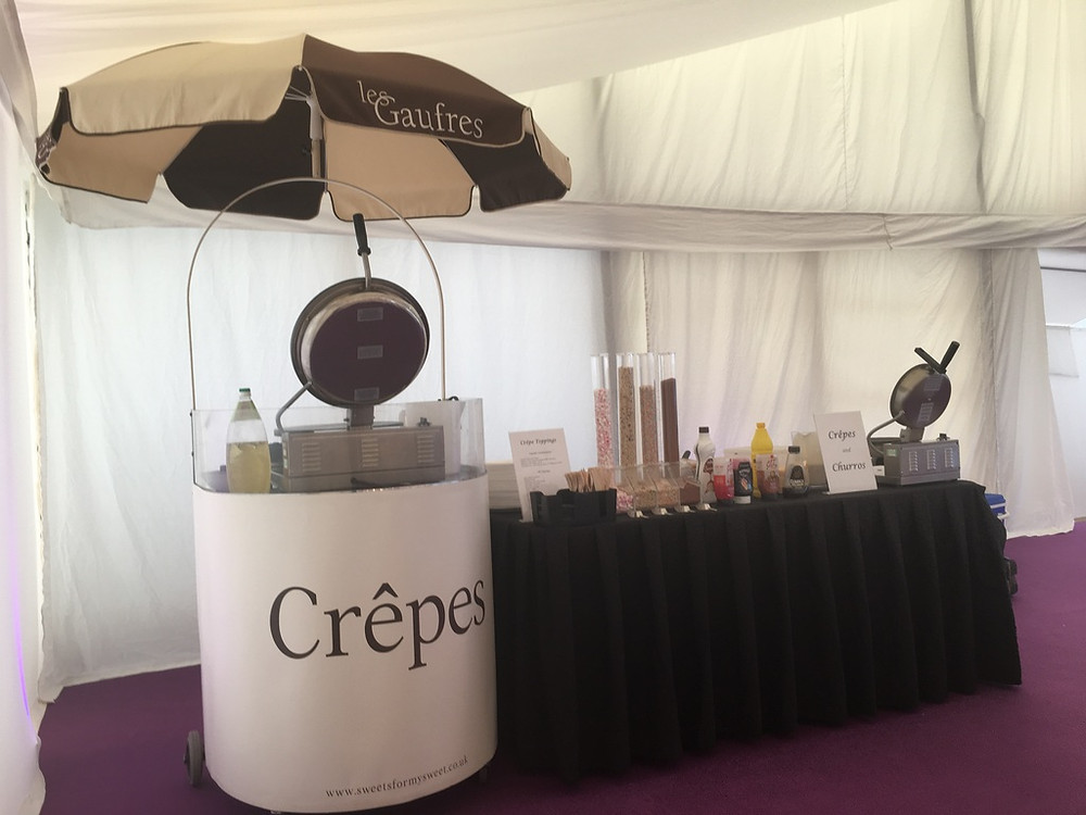 crepe event hire corporate party