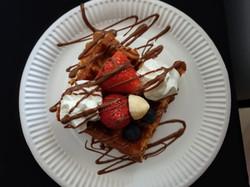 waffle-on-tray