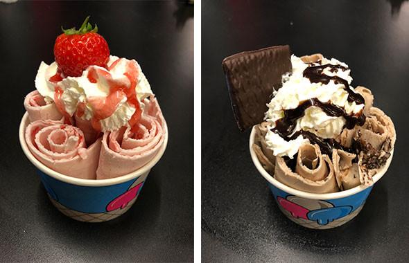 thai ice cream rolls event hire