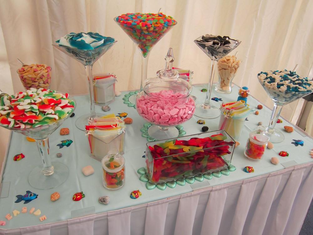 seaside candy buffet