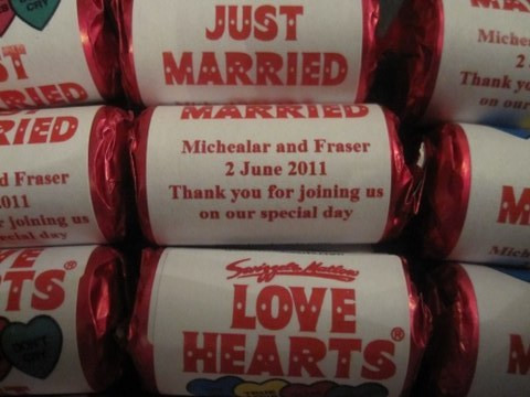 your name wedding love hearts