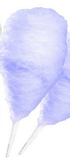 purple candy floss