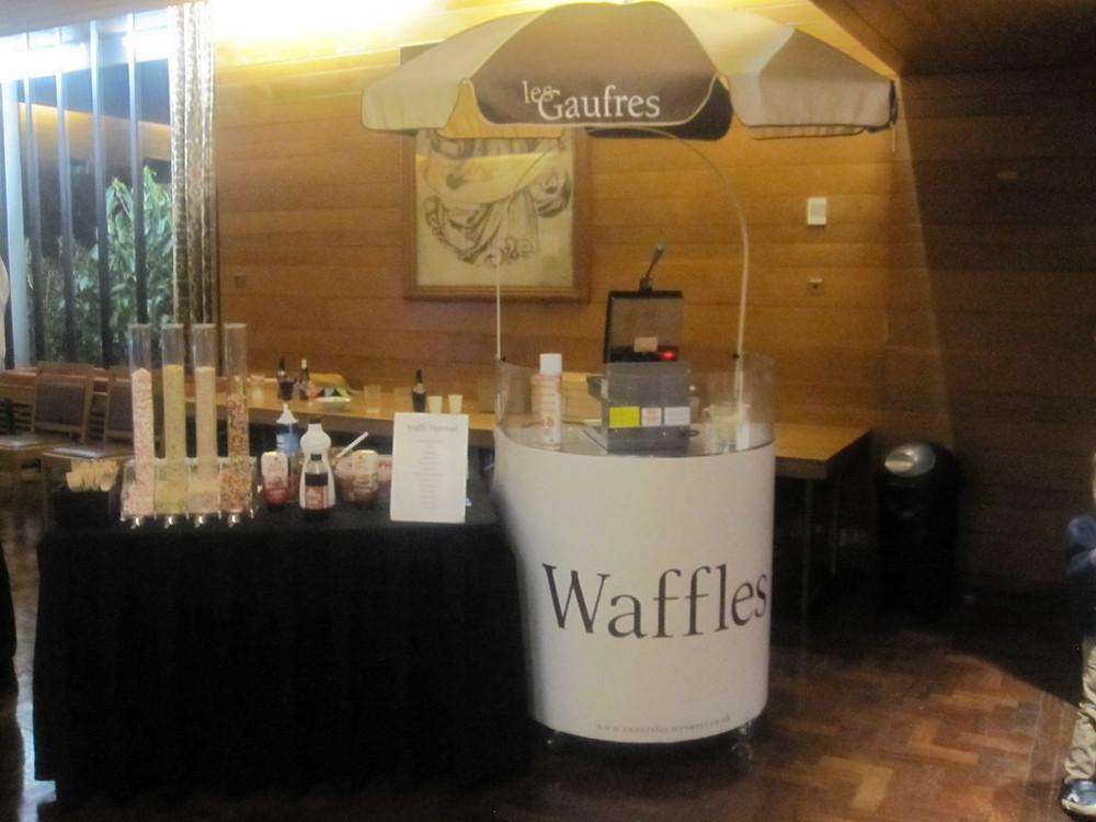 belgian waffle maker hire at wedding