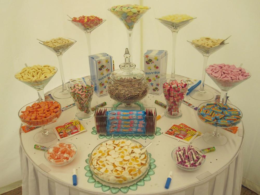 retro candy buffets