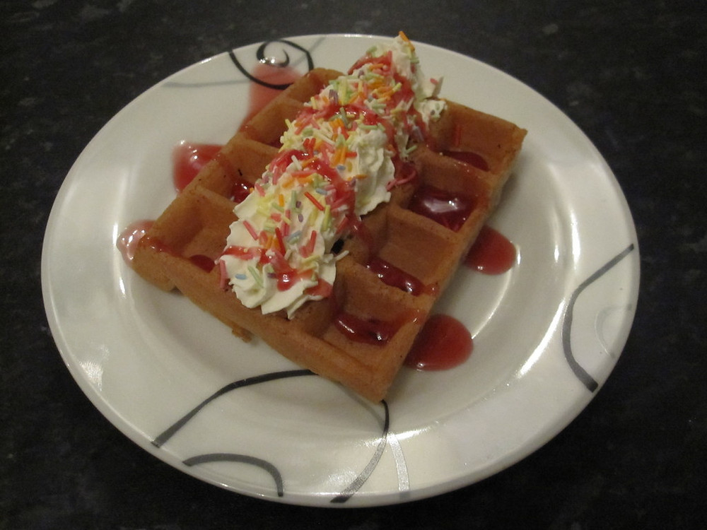 waffles at event