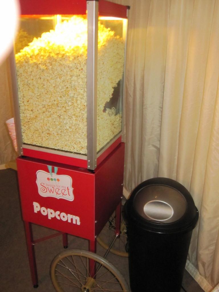 popcorn heater hire