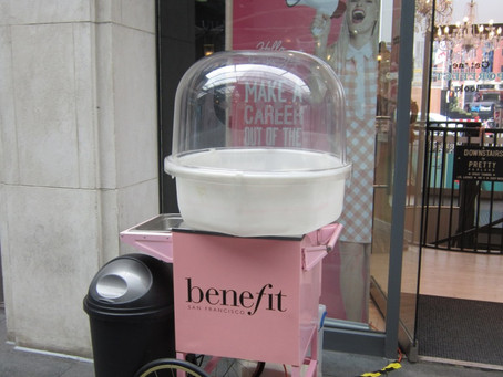 Branded Candy Floss Cart - Benefit Cosmetics