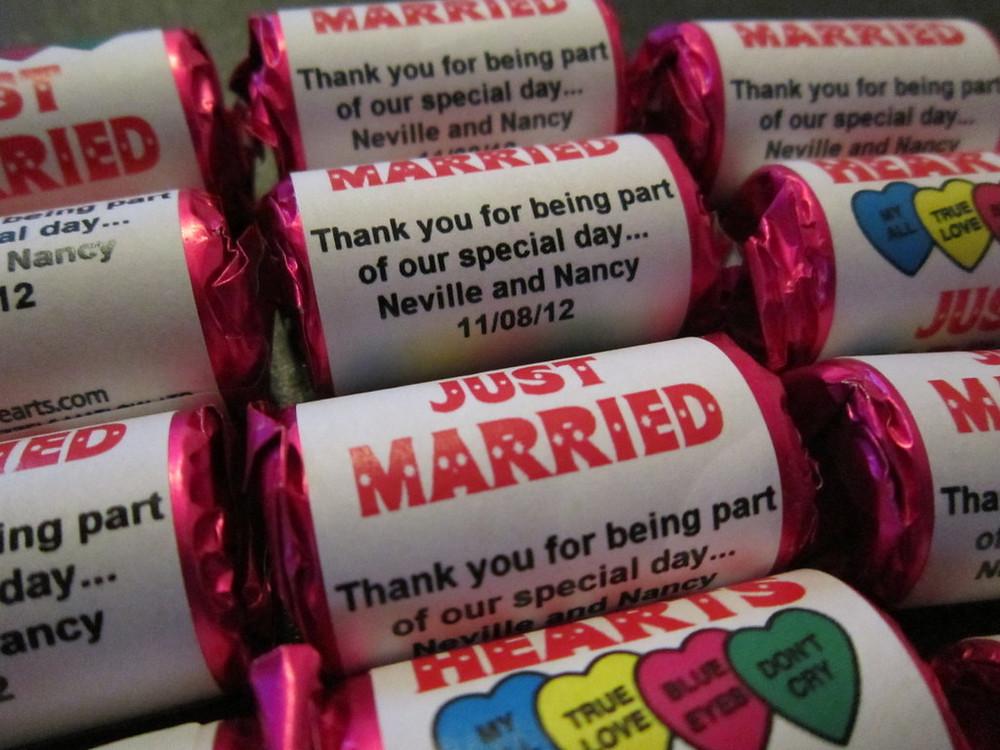 your name wedding sweets