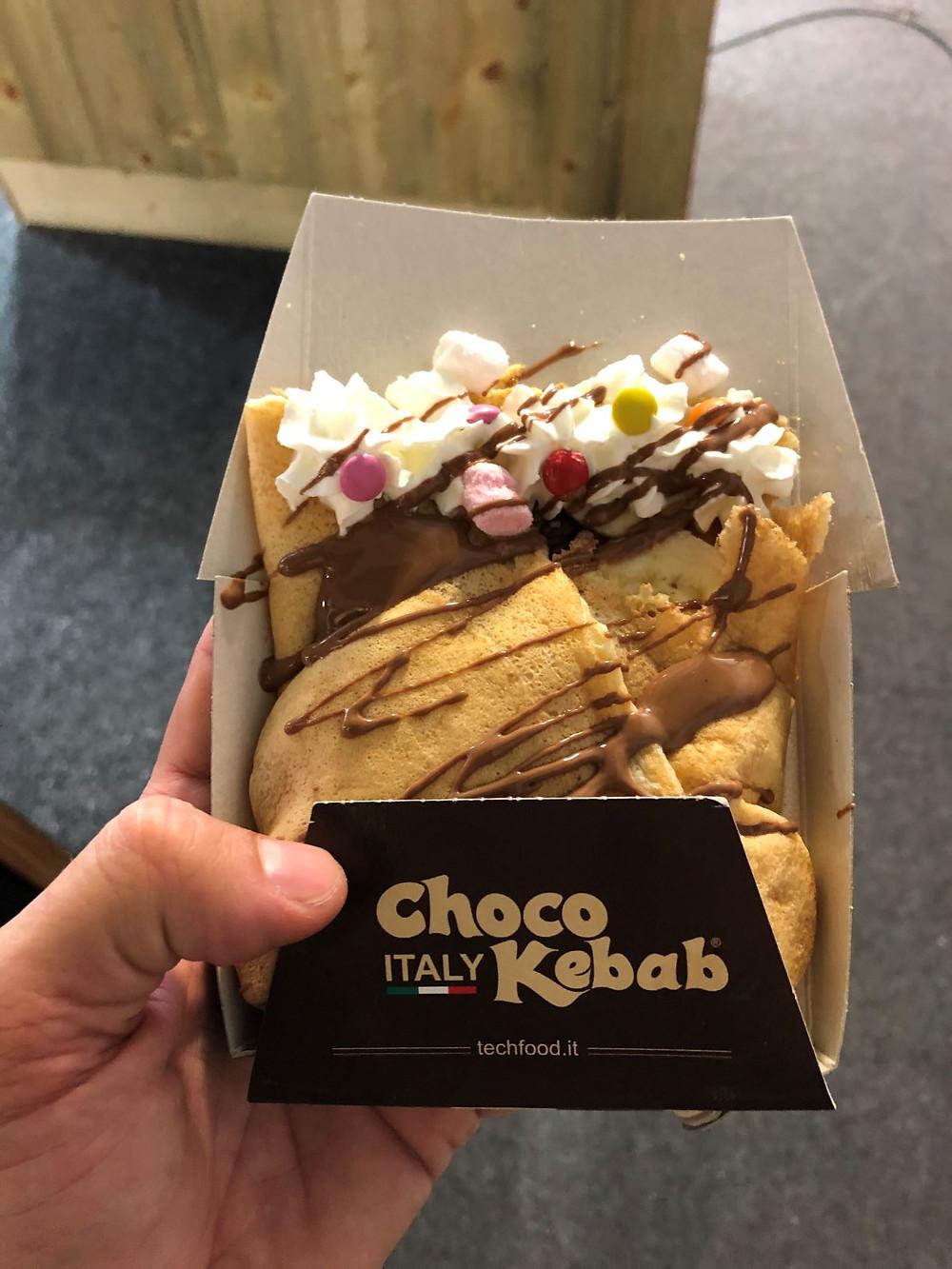 chocolate kebab wrap