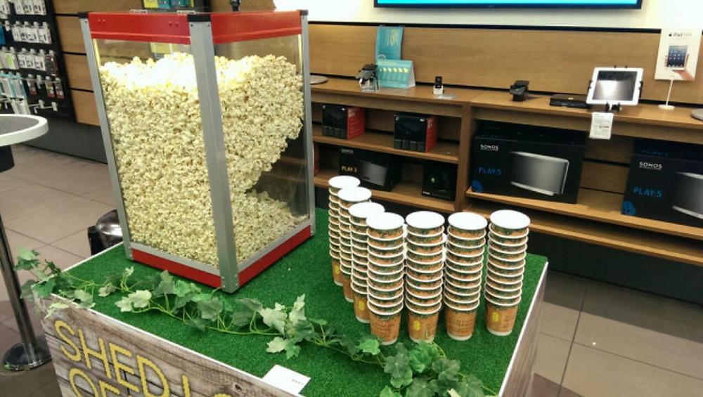popcorn warmer top hire