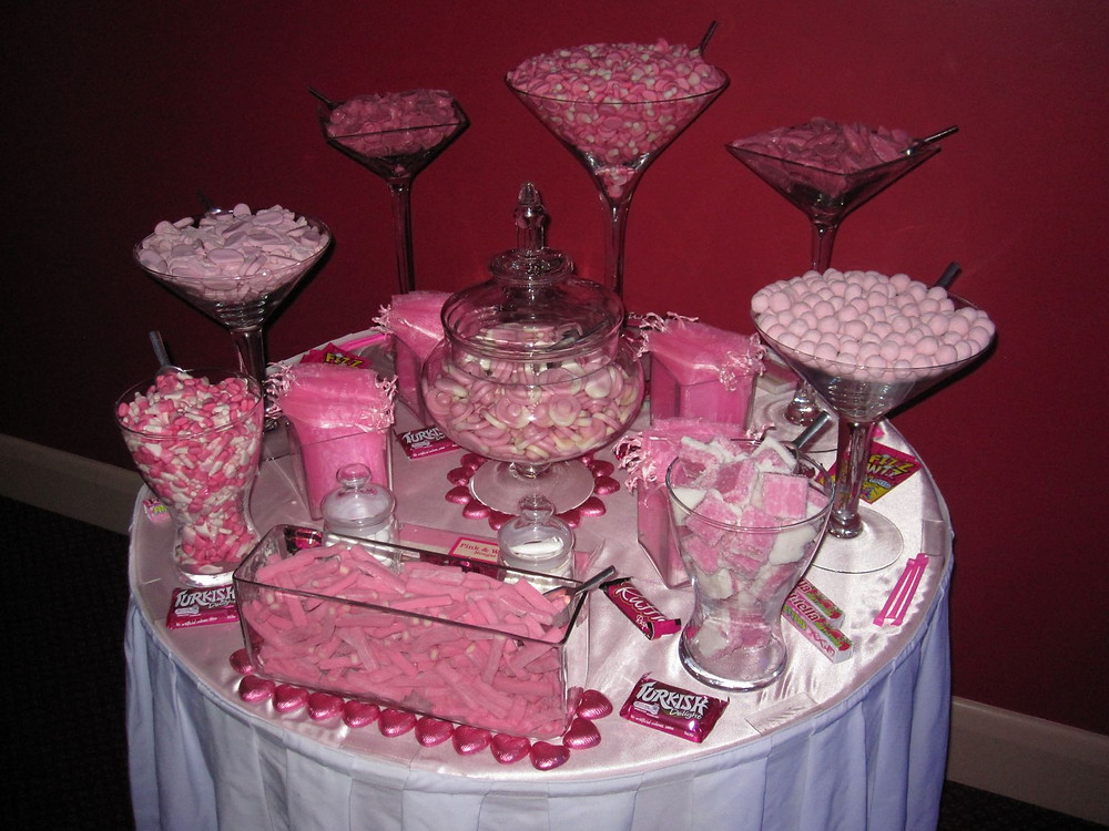 pink sweet table birthday