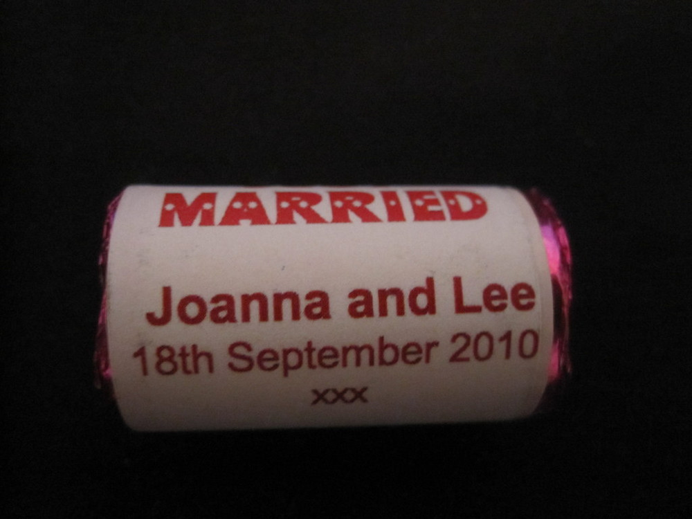 personalised wedding love hearts sweets