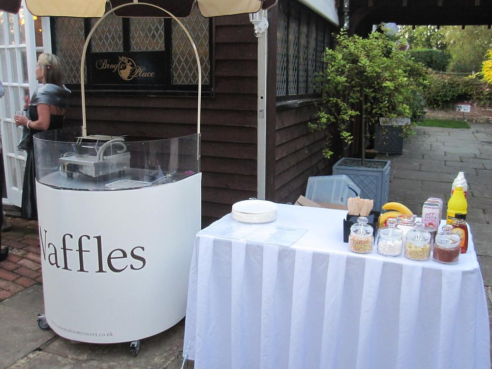 hire waffle cart wedding venue