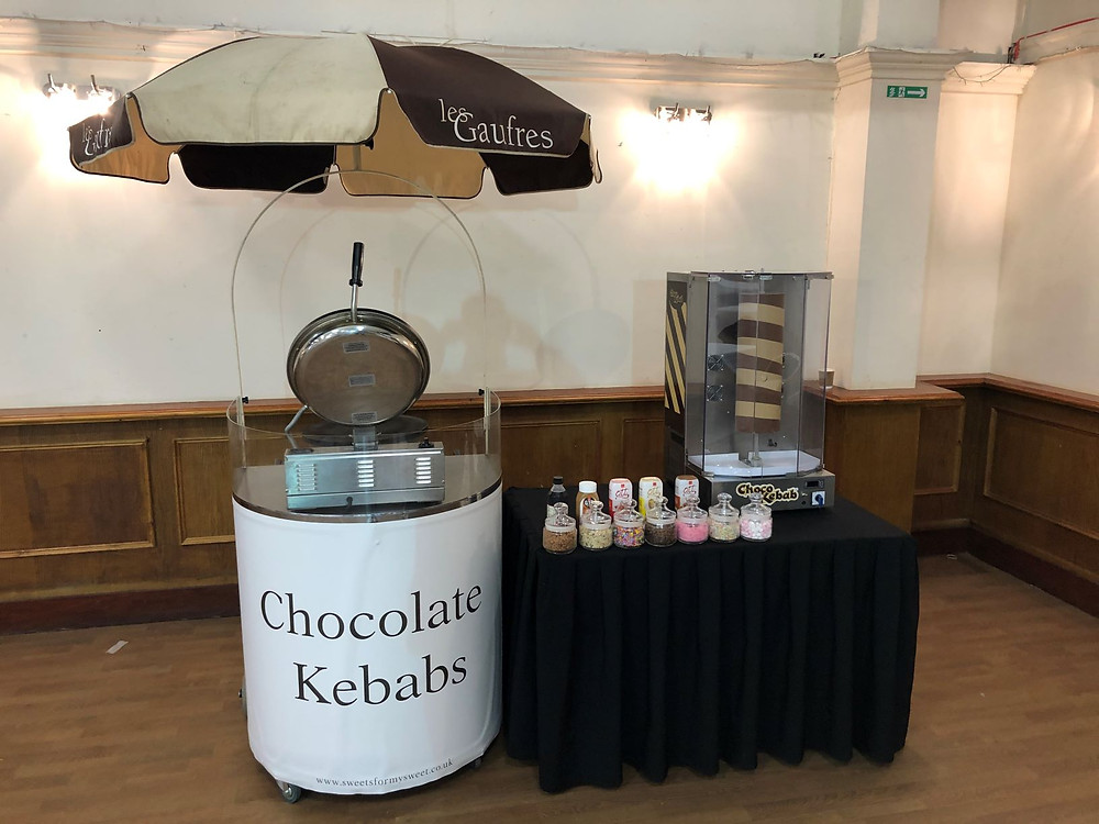Chocolate Kebabs cart hire