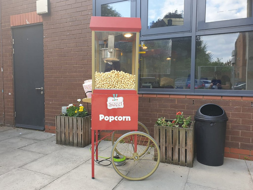 popcorn hire wedding