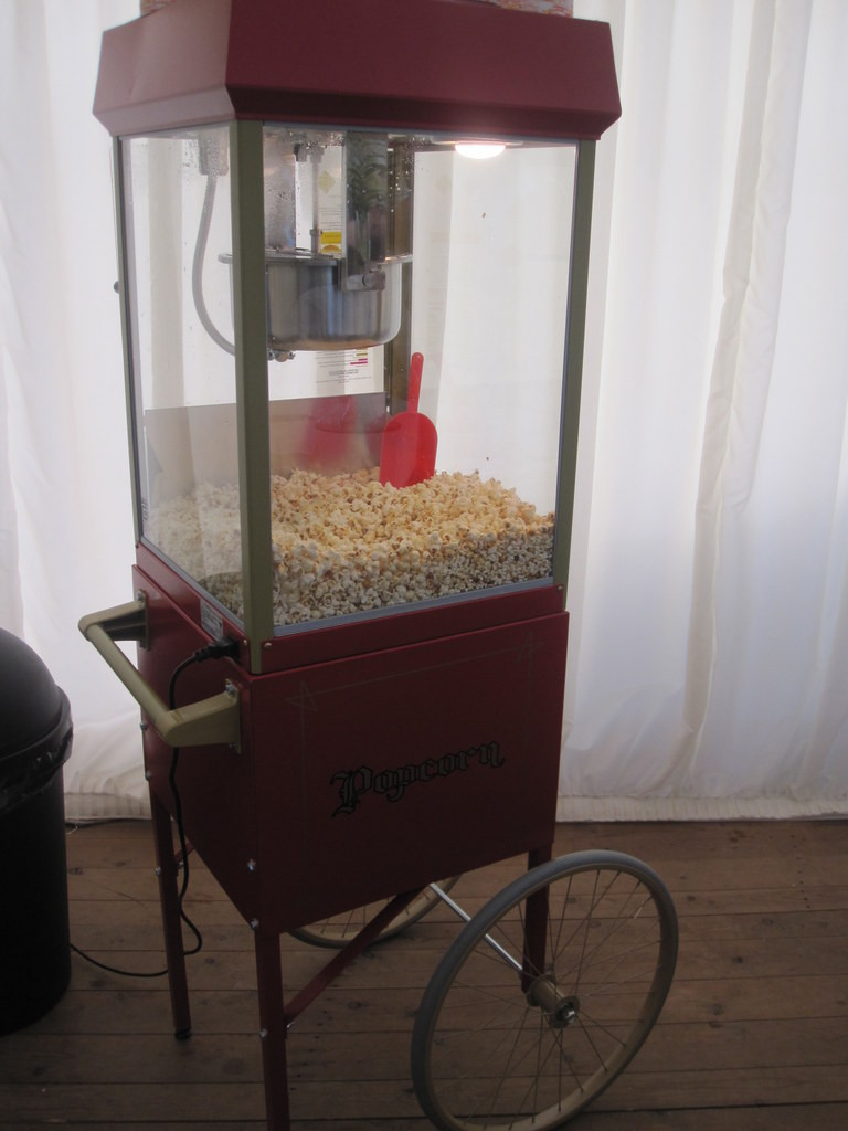 popcorn machine event hire