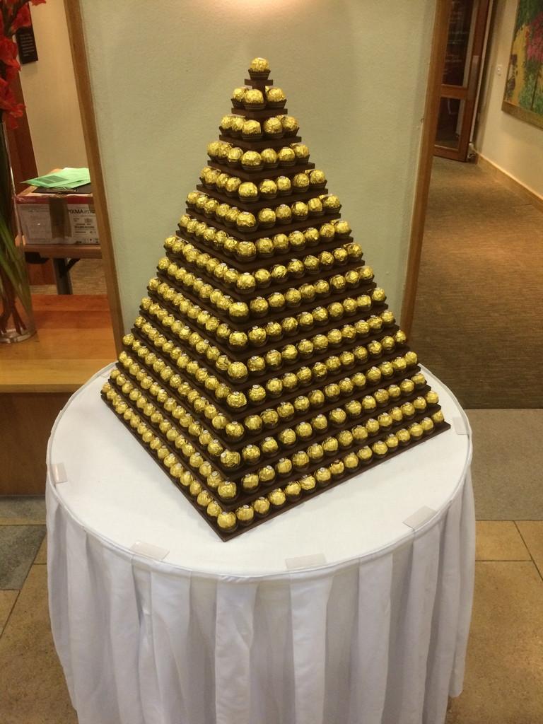 gold ferrero pyramid