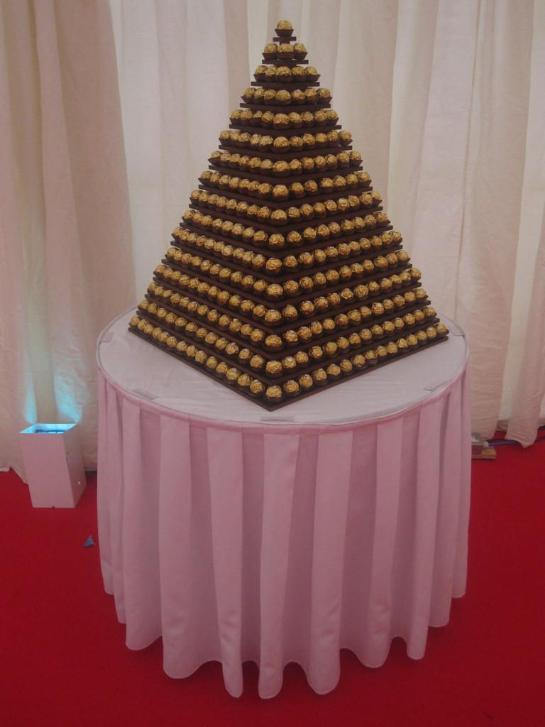 ferrero rocher pyramid surrey