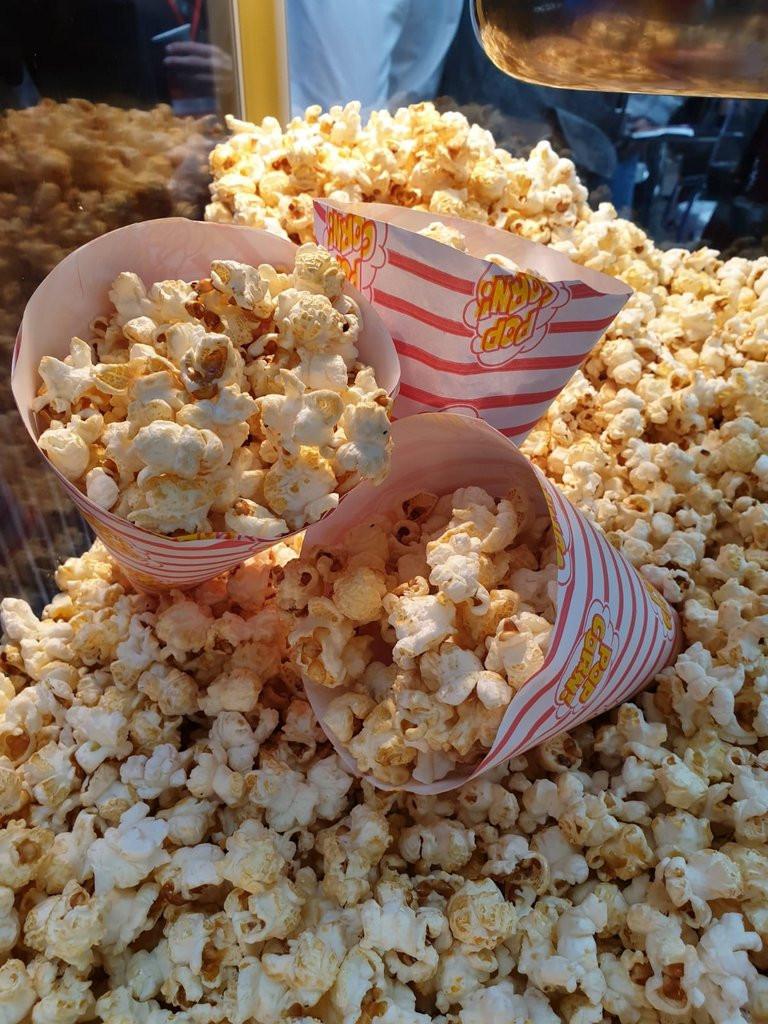 popcorn cones at event