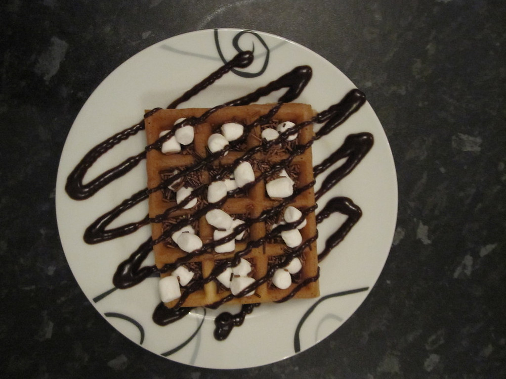 waffle served wedding