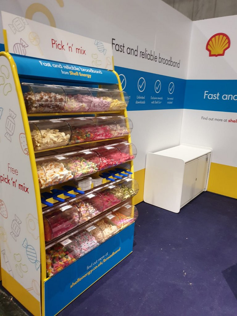 Branded Pick n Mix hire London Olympia