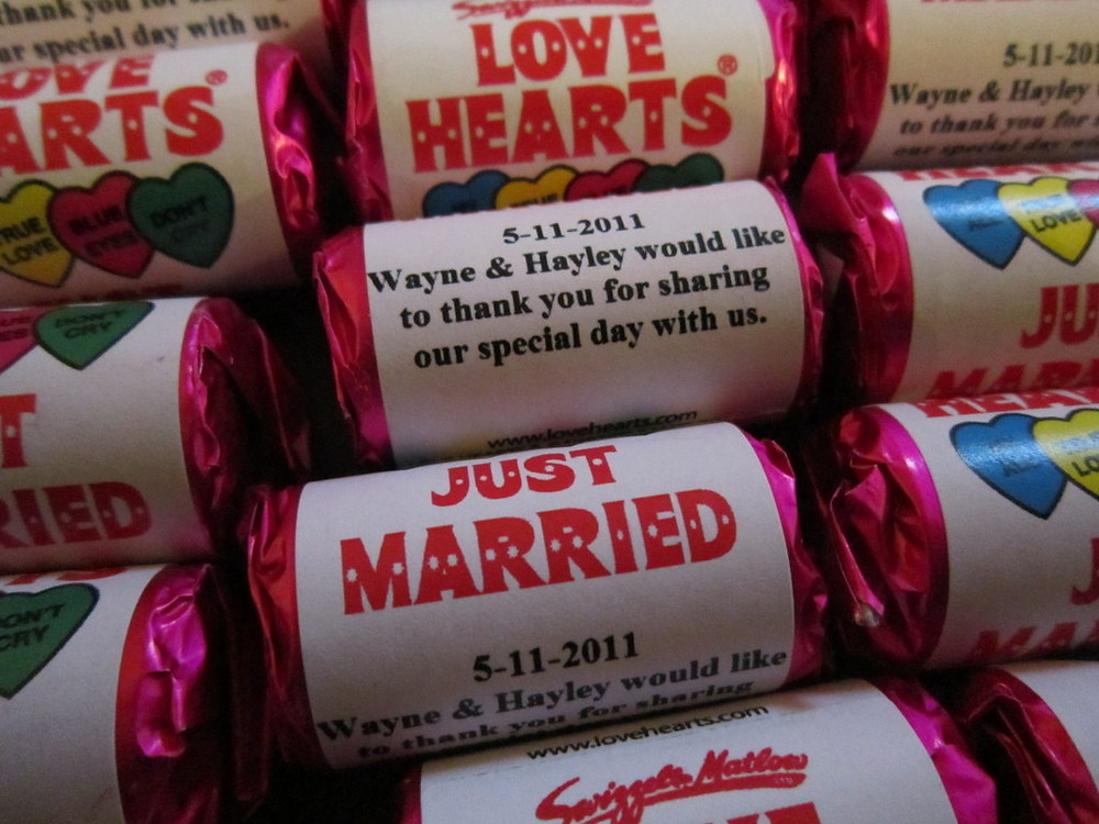 wedding sweets with your name on