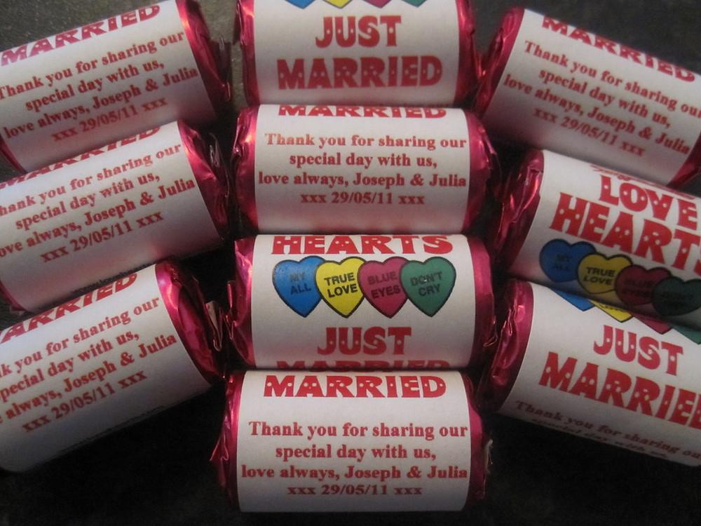 bespoke wedding love heart favours