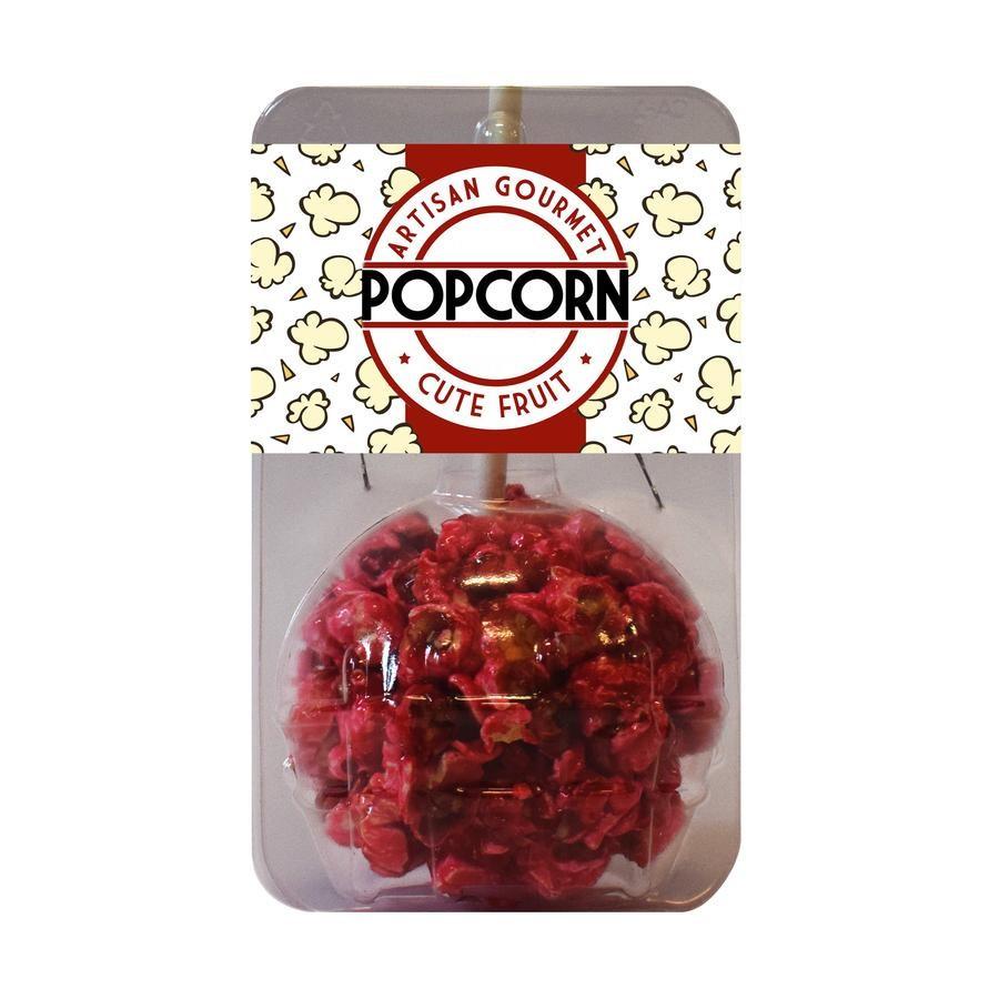 branded popcorn on stick