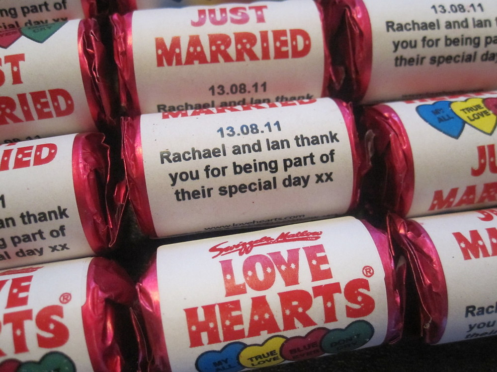 personalized wedding love hearts