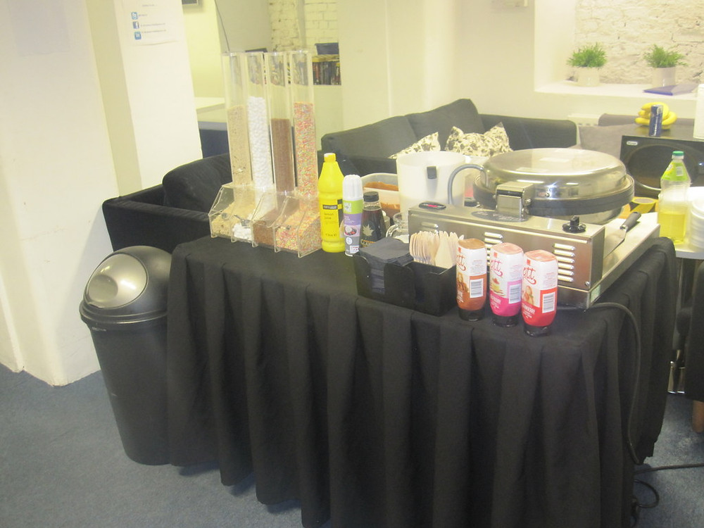 small crepe cart hire table only