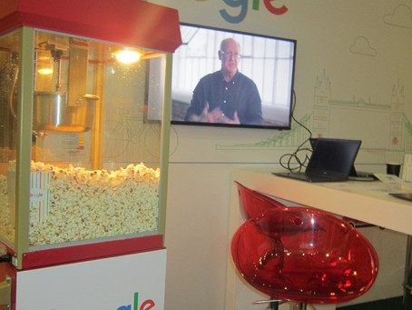 Branded Popcorn Cart for Google