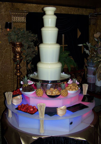 white chocolate fountain hire