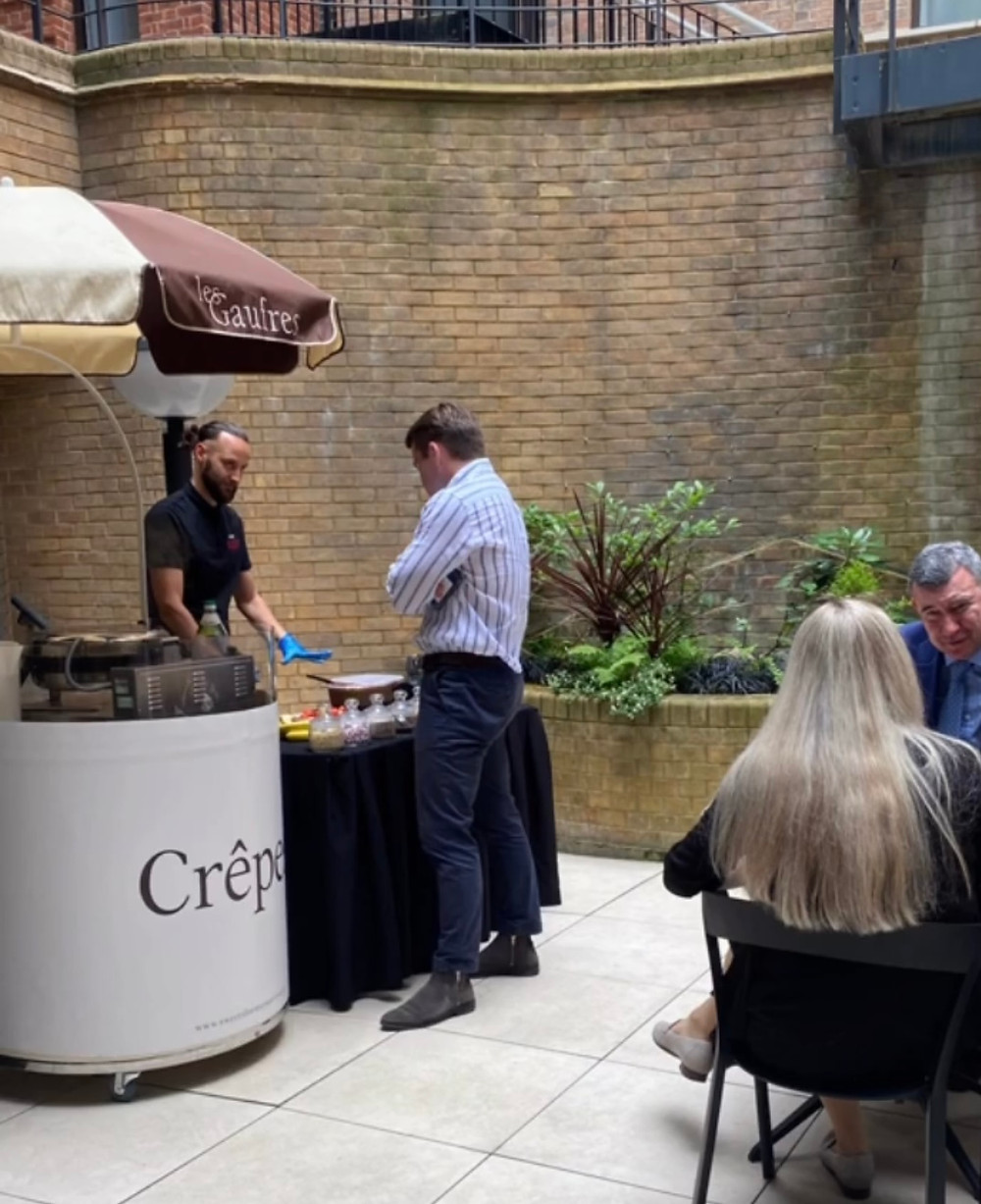 pancake stand hire London office