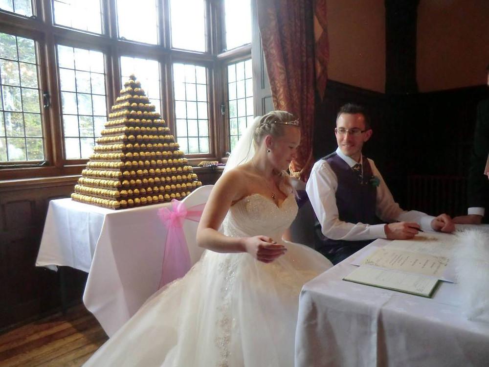 wedding ferrero rocher pyramid hire