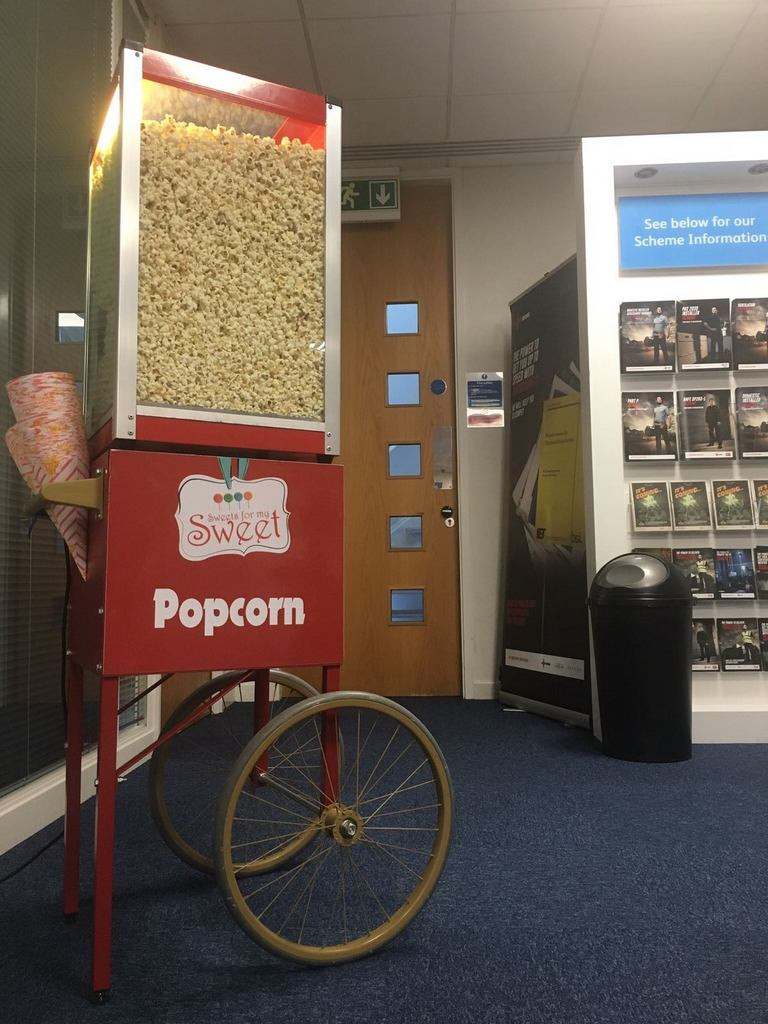 popcorn cart hire sussex
