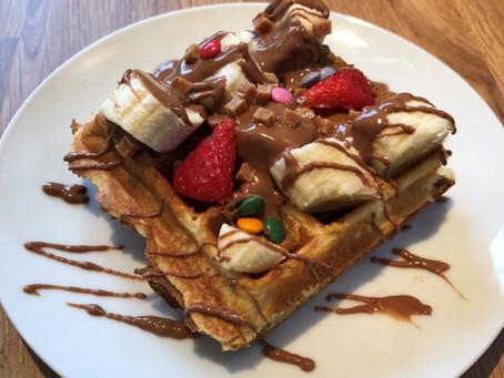 make waffles at events
