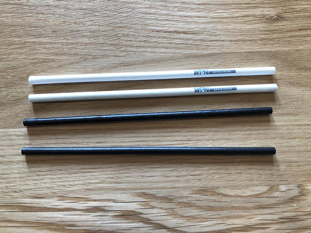 Branded paper straws