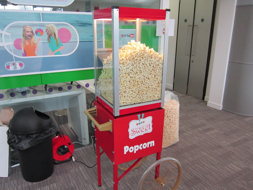 popcorn cart hire london