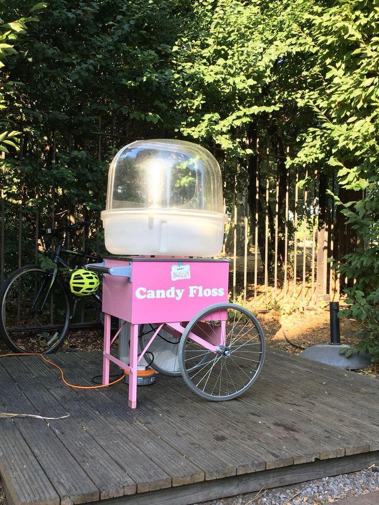 candy floss cart event hire