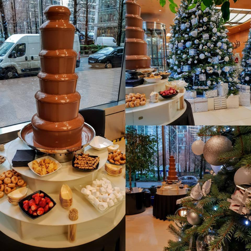 chocolate fountain hire christmas