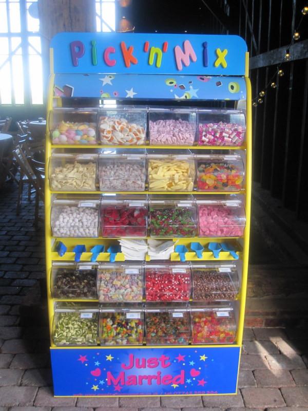 pick n mix sweets wedding elmley nature reserve