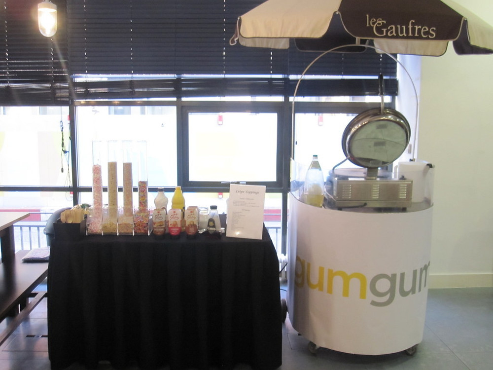branded churros cart hire