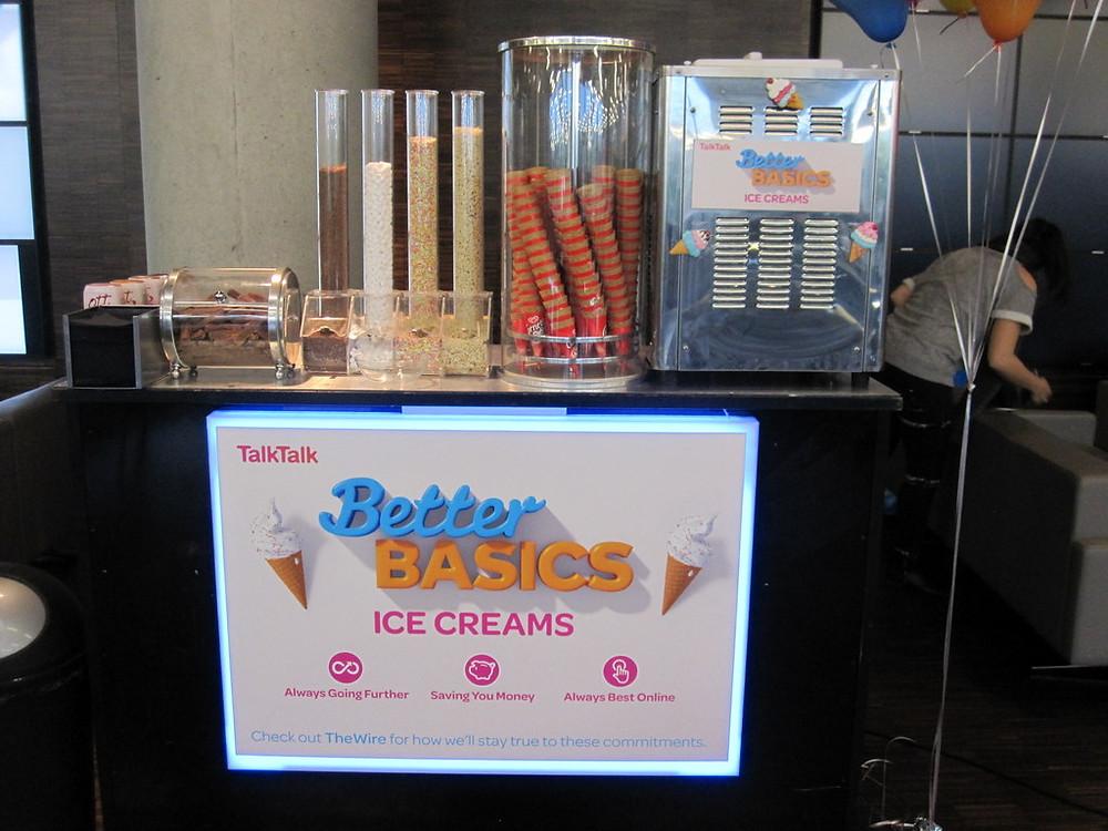 ice cream machine branded